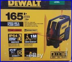 DeWalt DW0822 Cross Line & Plumb Spot Laser Red