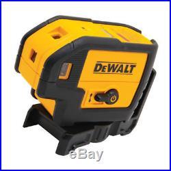 DeWalt DW085K Self-Leveling 5-Beam Laser Level Kit with 4 AA Batteries New