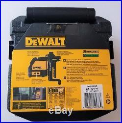 DeWalt DW088CG IP54 Self-Leveling Green Cross Line Laser New in Carrying Case