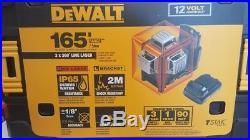 DeWalt DW089LR 12v max Compatible 3 x 360 Red Cross Line Laser Kit