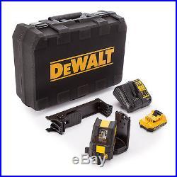 Dewalt DCE088D1G 10.8v Self Leveling Cross Line Green Laser 1x 2.0Ah Battery