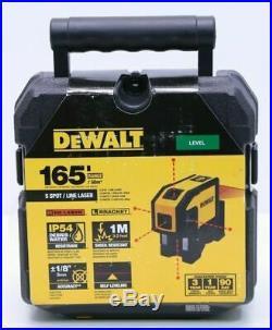 Dewalt DW0851 5 Spot Self-Leveling Horizontal Line Combination Laser Brand New
