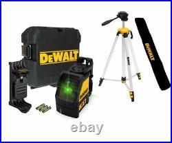 Dewalt DW088CG Green Beam Self Levelling Cross Line Laser + DE0881T Tripod