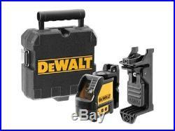 Dewalt DW088CG Green Cross Line Laser Level Self Levelling Includes Bracket