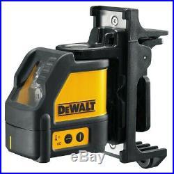 Dewalt DW088K CLL Cross Line Self Levelling Laser Level Kit + Wall Bracket +Case