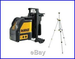 Dewalt DW088K Self Levelling Cross Line Laser Level Bracket Case + Tripod + Bag