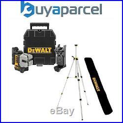 Dewalt DW089K-XJ 3 Beam 3 Way Self Levelling Multi Line Laser + Bracket + Tripod