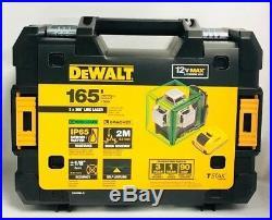 Dewalt DW089LG 12-Volt 3 x 360-Degree Lit-Ion Green Beam Line Laser BRAND NEW