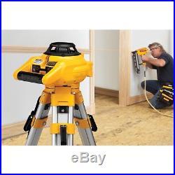 Dewalt Self Leveling Interior And Exterior Rotary Laser Level Kit Dw074kd