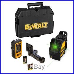 Dewalt Self-Levelling Cross Line Laser Green Beam DW088CG + DE0892G Detector