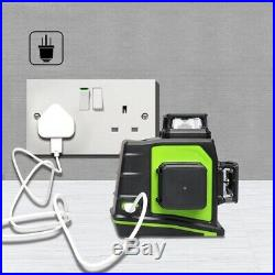 GF360G Rotary Laser Level Green 12 Lines 3D Cross Line Self Leveling