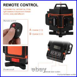 Green Beam 4D 16 Lines Laser Level Auto Self Leveling Rotary Cross Measure XC471