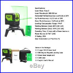 Green Beam Laser Level 3D 360 Self leveling measure Tool Horizontal Vertical