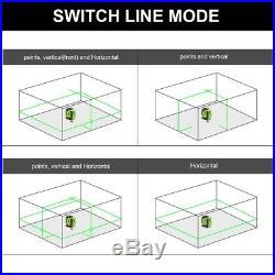 Green Cross Laser Level 360 Degree Horizontal 2 Vertical Lines plus dot Point