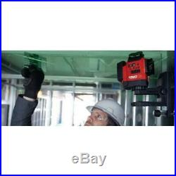 Hilti 131 Ft Laser Level Multi Line Green Self Leveling Magnetic Bracket Case