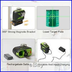 Huepar 360° 12 Lines Laser Level 603CG Cross Line Self Leveling with Receiver