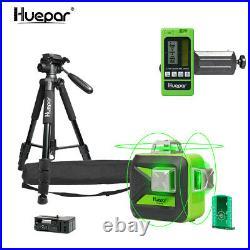 Huepar 360 3D Self-Leveling Laser Level kit measure Tool + Tripod + Receiver