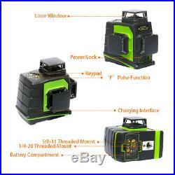 Huepar 360 Laser Level Cross Green Laser Beam Self Leveling Laser level Detector