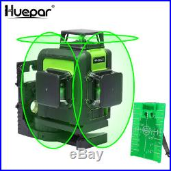 Huepar 3D 12 Lines Green Laser Level Self Leveling Cross Line Professional Laser