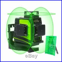 Huepar 3D Green Beam Self-Leveling Laser Level 3x360 Cross Line Three-Plane Leve