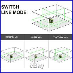 Huepar 603CG 3360 Cross Line Laser Level Green Self Leveling 130FT 40M+Receiver