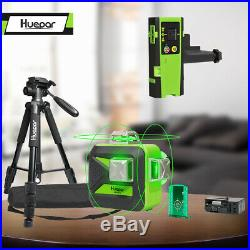Huepar 603CG Self-Leveling Rotary Grade Laser Level with tripod and Receiver kit