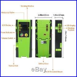 Huepar 8 Line Self Leveling Laser Level Horizontal Vertical with Laser Receiver