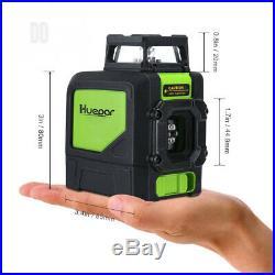 Huepar 901CG Laser Level Mute Green Beam Cross Self-Leveling - 360° Self