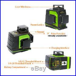 Huepar Laser Level Green 12 Lines Cross Line Self Leveling Cannot match receiver