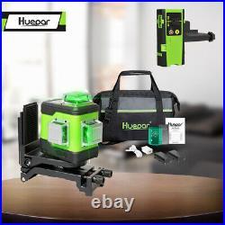 Huepar Rotary 3D Cross Line Self Leveling Laser Level 3360 12 lines + Receiver