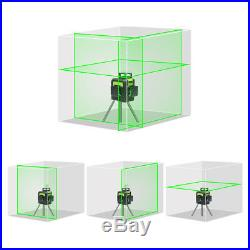 Huepar Rotary Laser Level Green Cross Line Horizontal Vertical Measuring 147ft