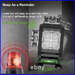 Huepar S04 CG laser level, 4x360,4D, Bluetooth, Remote control, LCD, FAST DELIVERY