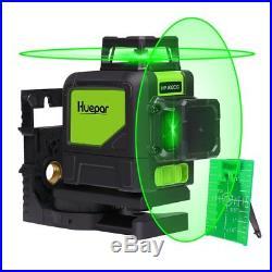 Huepar Self-Leveling 360 Laser Level Mute Levelsure 902CG Green Beam 150 Ft