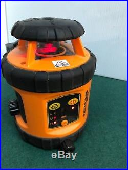 Johnson Acculine Pro 40-6515 Self Leveling Rotary Laser Level withManual and Case