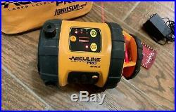Johnson Acculine Pro Self Leveling Rotary Laser Level Model 40-6515
