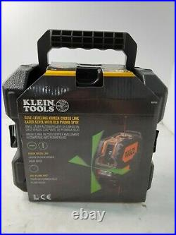 Klein Tools (93LCLG) Self-Leveling Green Cross-Line Laser withRed Plumb Spot. BLACK