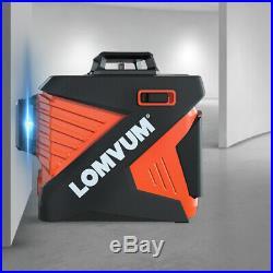 LOMVUM 3D Laser Level 12 Lines Green Beam 360° Vertical Horizontal Self-Leveling