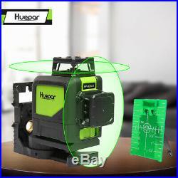 Laser Level 360 Green Cross Line Laser Self Leveling Huepar 8 line Tool 130 Feet