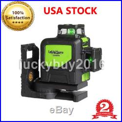 Laser Level 8 Line Green Self Leveling Outdoor 360° Rotary Cross Measure Tool