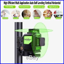 Laser Level 8 Lines Green Self Leveling 3D 360° Horizontal Vertical With