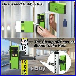 Laser Level Green Beam 360 Horizontal and one Vertical Line + laser receiver