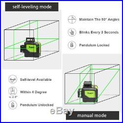 Levelsure Self-Leveling 360 Laser Level Mute Huepar 902CG Green Beam 150 Ft