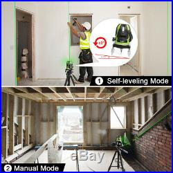 Line Laser Level Four Vertical and One Horizontal Line with Plumb Dot points