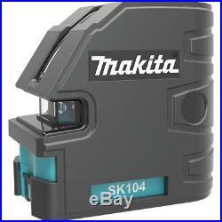 Makita Cross Line Laser Sk104z Blue 9 Piece Fast Self Leveling Tool Building Set