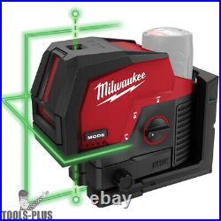 Milwaukee 3622-20 M12 Green Cross Line 3-Plane Laser Kit New