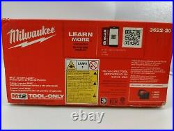 Milwaukee 3622-20 M12 Green Laser Cross Line & Plumb Point New Tool Only, New