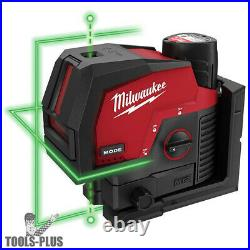 Milwaukee 3622-21 M12 Green Cross Line & Plumb Points Laser 3.0Ah Kit New