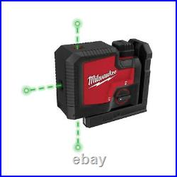 Milwaukee Green 100 ft. 3-Point Rechargeable Laser Level with REDLITHIUM