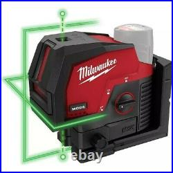 Milwaukee Li-Ion Cordless Green 125 ft. Cross Line and Plumb Points Laser Level