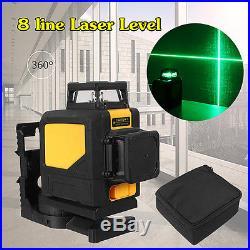 Mini 360° 8 Line Laser Self Leveling Vertical&Horizontal Level Green Measurement